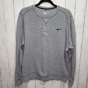 Nike Golf Gray Standard Fit Crewneck Size Large.